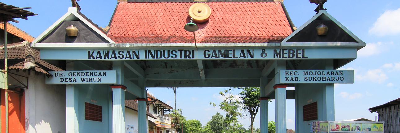 Pusat kerajinan Gamelan Desa Wirun, Sukoharjo
