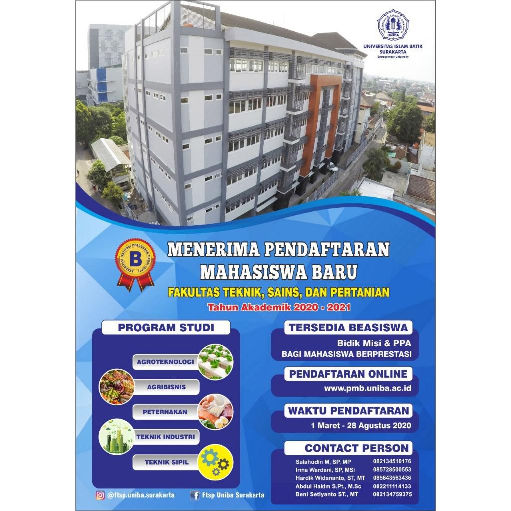 Fakultas Teknik, Sains, dan Pertanian UNIBA Surakarta